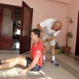 Тренировка сборной России по санному спорту на сборе в Сочи