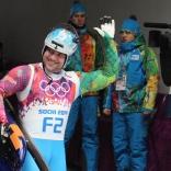 Открывающий на олимпийской трассе Евгений Воскресенский