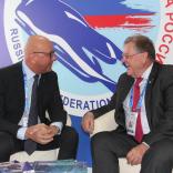 На стенде ФССР состоялась встреча президентов IBSF Иво Ферриани и FIL Йозефа Фендта