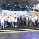 Церемония чествования олимпийцев