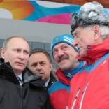 Владимир Путин - на санно-бобслейной трассе в Парамоново!