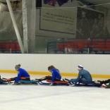 Юниорская сборная команда России провела подготовку на горизонтальном льду