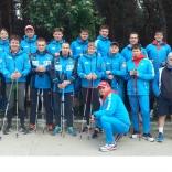 Сборная России по санному спорту на тренировочных мероприятиях