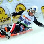 Итальянец Алекс Грубер - бронзовый призёр чемпионата мира в мужских соревнованиях на одноместных санях