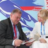 Президент  FIL Йозеф Фендт и президент ФССР Наталия Гарт обсудили вопросы развития санного спорта в России и мире