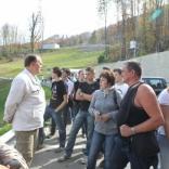 Визит делегации Роскосмоса на олимпийскую санно-бобслейную трассу в Сочи