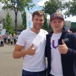 Александр Панжинский (лыжные гонки) и роман Репилов (санный спорт)