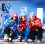 Эвелин Лантайлер (серебро), Екатерина Лаврентьева (золото), Тина Унтербергер (бронза)
