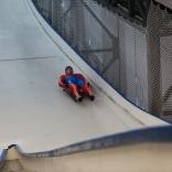 Спортсмен на эстакаде
