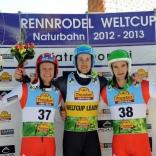 Победитель и призёры мужских соревнований: Патрик Пигнетер (Италия), Михаэль Шайкль (Австрия), Томас Каммерландер (Австрия)