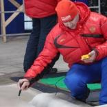 Соревнования мужчин на одиночных санях на ЧР в Парамоново