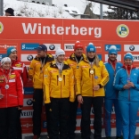 Призеры эстафетной гонки в Винтерберге