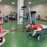 Упражнения с резиновыми лентами