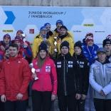 Награждение победителей и призеров эстафетной гонки