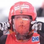 Тренировка женщин перед стартом чемпионата Европы по санному спорту