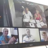 Члены Президиума принимают участие в заседании, посредством электронных средств связи