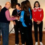 Церемония награждение победителей и призёров первого этапа Кубка России по санному спорту