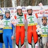 Победители и призёры соревнований двоек 32-го юниорского чемпионата Европы по натурбану