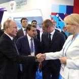 Встреча президента РФ Владимира Путина и президента ФССР Наталии Гарт