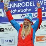 Екатерина Лаврентьева - одиннадцатикратная обладательница Кубка мира по натурбану