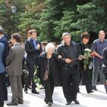 Прощание с президентом Федерации санного спорта России Леонидом Гартом