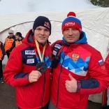 Роман Репилов - двукратный обладатель золота в Лейк Плэсиде, Артем Петраков - начальник сборной команды по санному спорту