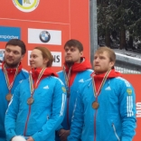 Российская команда, завоевавшая бронзу в эстафете