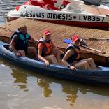 сплав на каноэ по реке Гауя