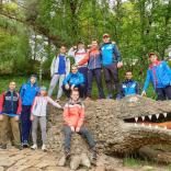 В выходной день юниоры на прогулке в Кисловодском национальном парке