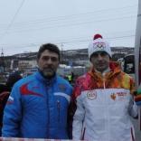 Андрей Кныр - участник эстафеты Олимпийского огня в Мурманске!