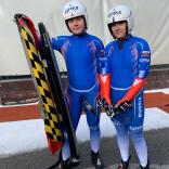 Коротаева Наталья и Виктория Чиркова завоевали серебро среди двухместных экипажей.