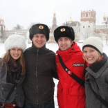 Экскурсия по Москве иностранных участников Кубка мира в Парамонов