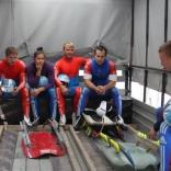 Роликовая тренировка сборной России по санному спорту на олимпийской санно-бобслейной трассе в Сочи