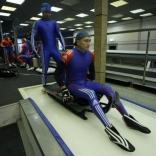 Открытая тренировка сборной России по санному спорту. Двойки