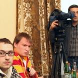 Встреча Леонида Гарта с ведущими журналистами, освещающими санный спорт