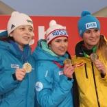 Виктория Демченко (серебро), Татьяна Иванова (золото), Натали Гейзенбергер (бронза)