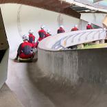 Тренировки на роликовых санях, Сигулда (Латвия)