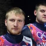 Александр Денисьев и Владислав Антонов после стартов