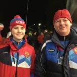 Диана Логинова с тренером Дмитрием Смирновым