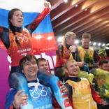 Серебряные призеры ОИ в командной гонке
