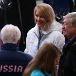 Президент ФССР Наталия Гарт с вице-президентами 22 февраля, СБТ в Сочи (Красная Поляна)
