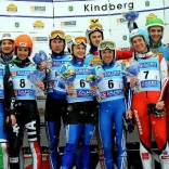 Победители и призёры командных соревнований 4-го этапа Кубка мира по натурбану в Киндберге