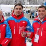 Руководители Федерации санного спорта России на этапе Кубка мира в Кенигзее