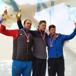 Победитель и призеры спринтерской гонки в дисциплине