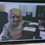 Президент Наталия Гарт с помощью электронных средств связи присутствовала на заседании