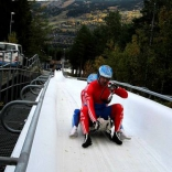 Первые тренировки сборной России по санному спорту на сборе в Осло