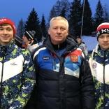 Экипаж Карнаухов/Чирва с личным тренером Дмитрием Смирновым