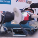Альберт Демченко и другие на тренировке перед стартом чемпионата Европы по санному спорту