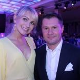 Президент ФССР Наталия Гарт и олимпийский чемпион Алексей Немов
