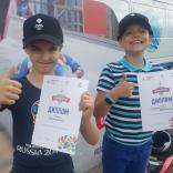 Победители эстафеты от ФССР на Олимпийском дне в Сокольниках